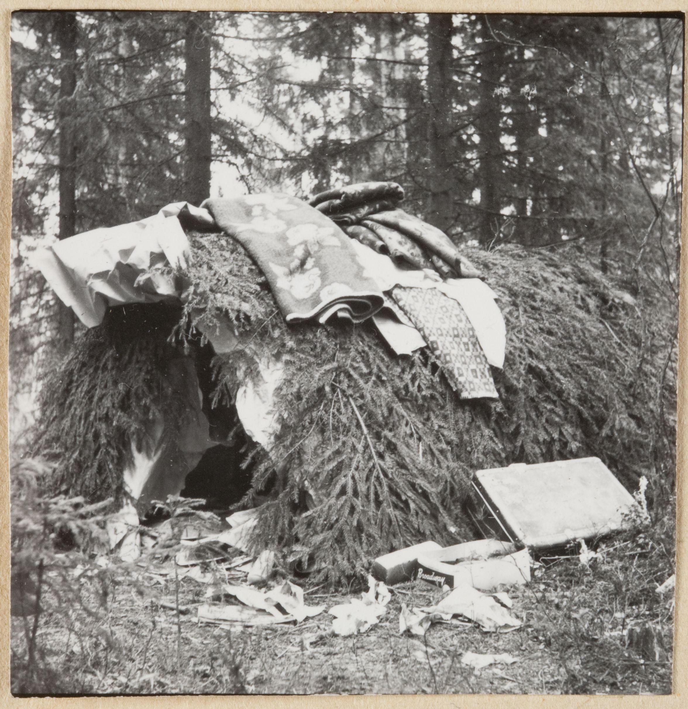 Romanien valmistama väliaikainen maja 1950-luvulta. Kuva: SKS, Karl von Schoultzin perinnekokoelma.