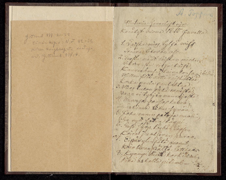 Abraham Poppiuksen tallentamia sananparsia Juvalta ennen vuotta 1815.