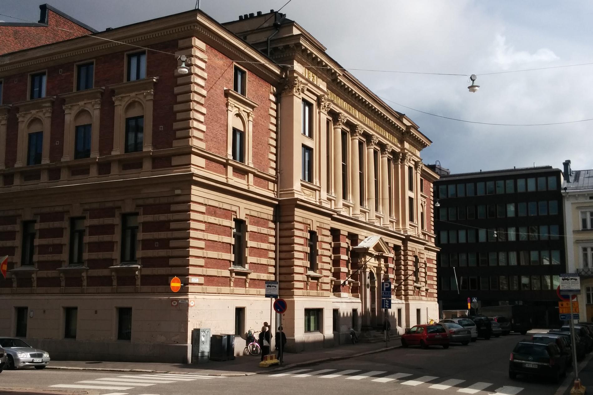 SKS:n päärakennus Hallituskatu 1, Helsinki. Kuva: Pirjo Mäkilä. SKS.