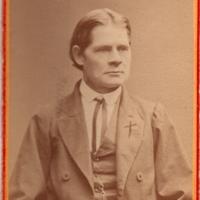 Talonpoika Juho Kaksola (1835–1912) Hartolasta, joka mm. toimitti käsinkirjoitettua lehteä.