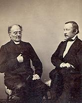 J. L. Runeberg ja Z. Topelius, 1863. SKS KIA