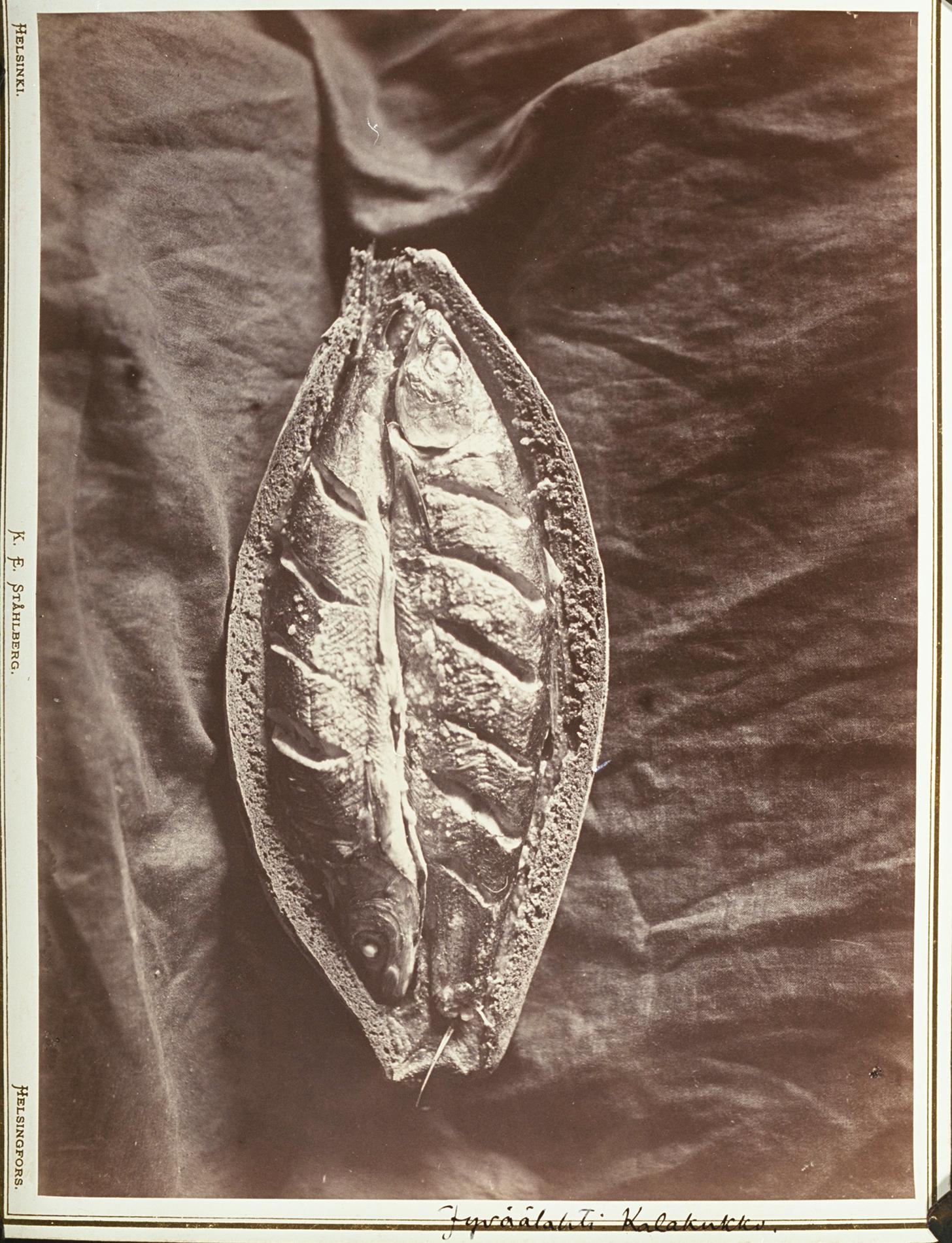 Kalakukko, kuvattu 1894 Uhtua, Jyvöälahti. SKS KRA. Kuvaaja: I.K. Inha.