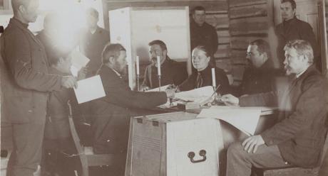 Ensimmäiset eduskuntavaalit 1907. Kuva: SKS KIA