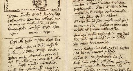 Piispa Henrikin surmavirsi 1600-luvulta. SKS KRA.