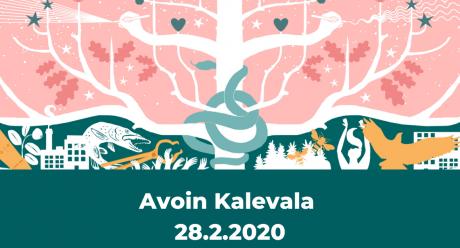 Matkalla Kalevalaan -verkkojulkaisun ulkoasua.