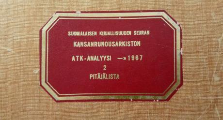 Kuva: Helga Tahvanainen. SKS KRA.
