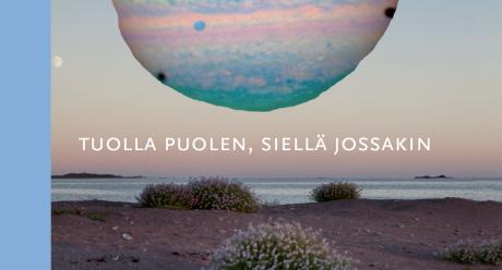 """Kalevalaseuran vuosikirjan 99 kansi. Kuva on Hertta Kiisken """"Planeettaa"""" kokoelmasta Melankolia 2047, 2017."""