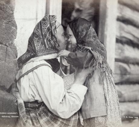 Woman and a little girl from Uhtua, Archangel Karelia by I. K . Inha in 1894.